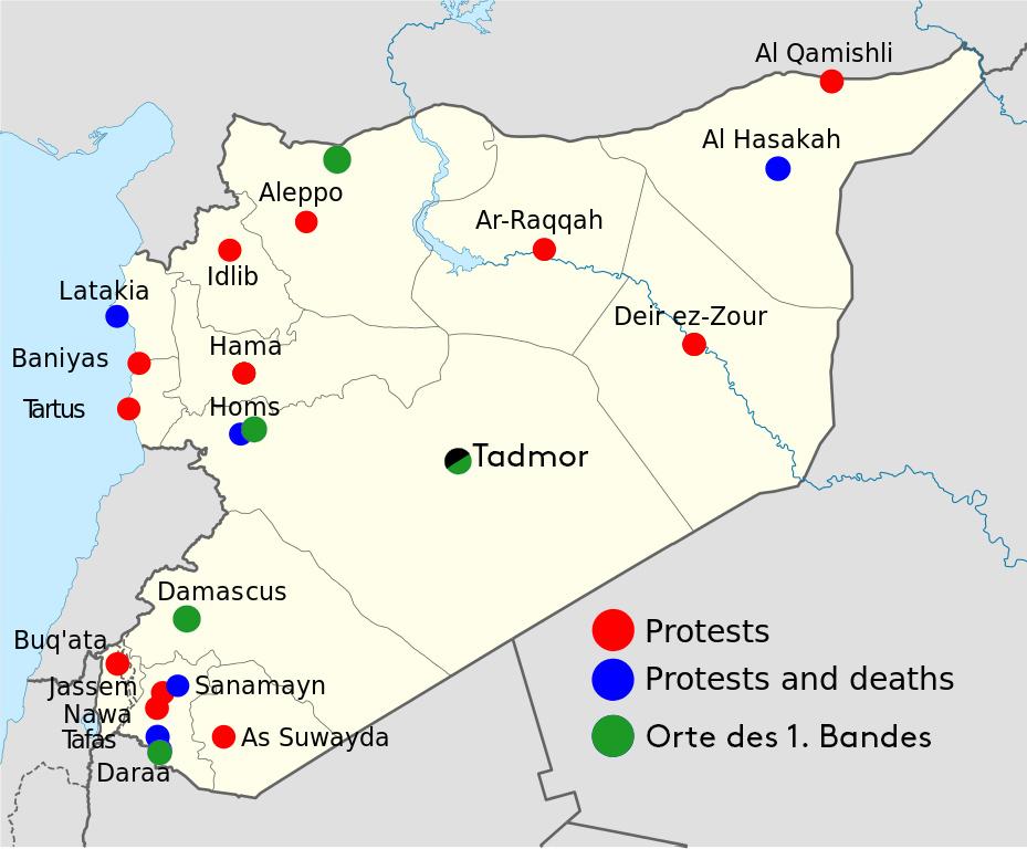 syrien karte Kartenmaterial