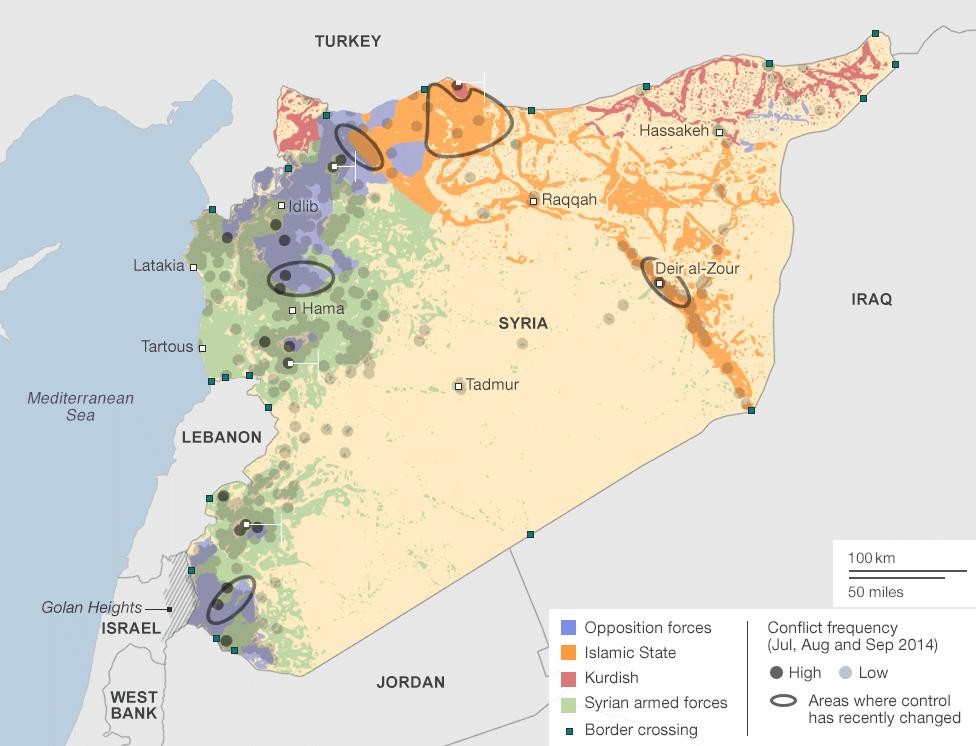 Syrien Irak Karte.Kartenmaterial