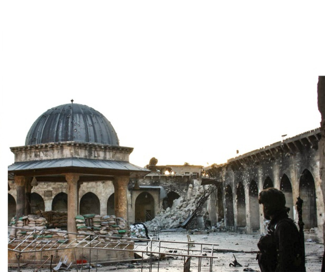 Umayyaden-Moschee in Aleppo (http://upload.wikimedia.org/wikipedia/commons/5/56/Umayyad-mosque-aleppo-2013.png)