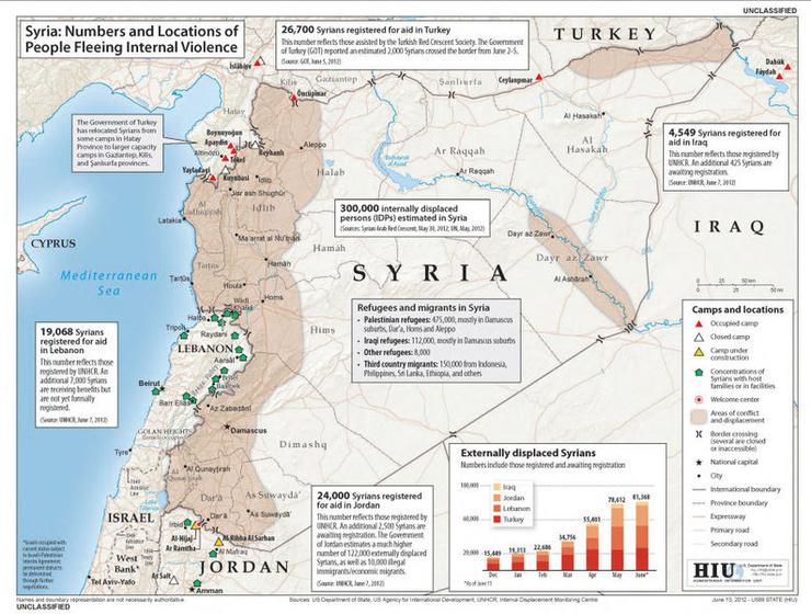Syrien Karte.Kartenmaterial